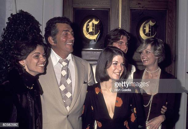 Actor/Singer Dean Martin wife Catherine Hawn and his daughter Gina Martin and son Ricci Martin on March 1 1974 dining at Chasen's Restaurant in...