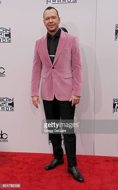 Actor/singer Donnie Wahlberg arrives at the 2016 American Music Awards at Microsoft Theater on November 20 2016 in Los Angeles California