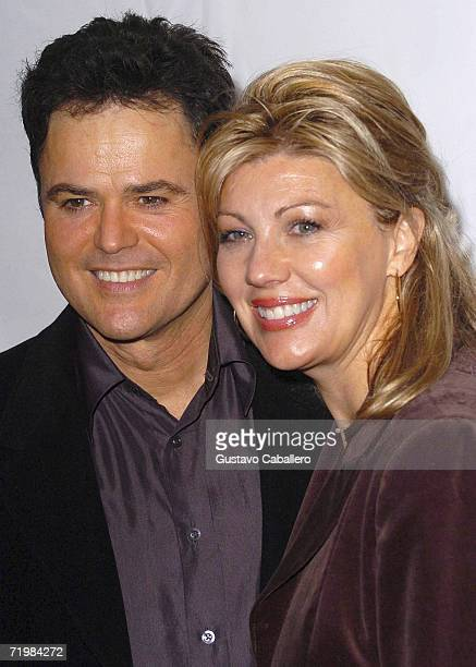 Actor/singer Donny Osmond with wife Debbie Osmond arrive at Tony Di Napoli restaurant for the after party celebrating Donny Osmond's opening night in...
