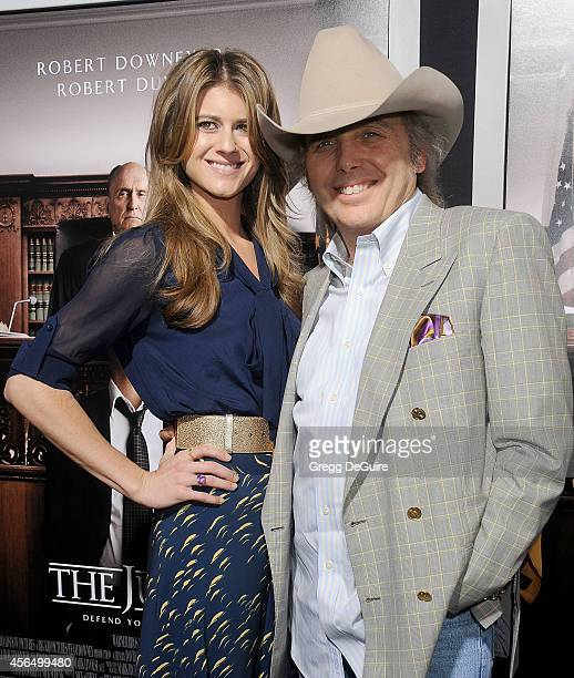 Actor/singer Dwight Yoakam and guest arrive at the Los Angeles premiere of 'The Judge' at AMPAS Samuel Goldwyn Theater on October 1 2014 in Beverly...