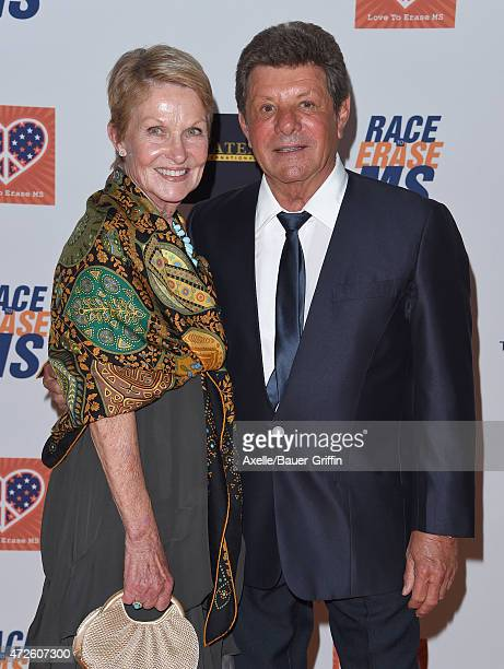 Actor/singer Frankie Avalon and wife Kathryn Diebel arrive at the 22nd Annual Race To Erase MS at the Hyatt Regency Century Plaza on April 24 2015 in...