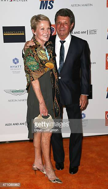 Actor/singer Frankie Avalon and wife Kathryn Diebel attend the 22nd Annual Race to Erase MS event at the Hyatt Regency Century Plaza on April 24 2015...