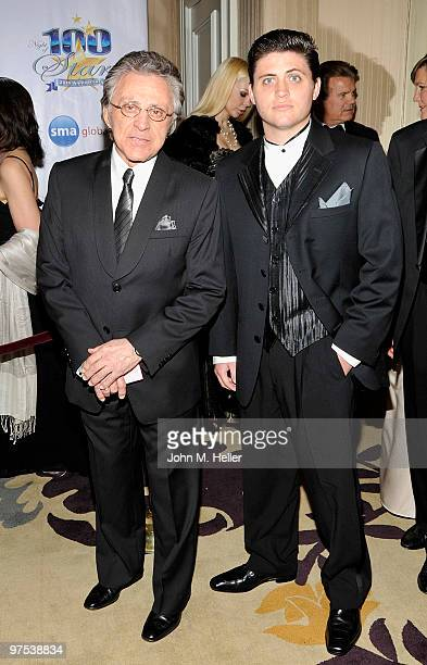 Actor/Singer Frankie Valli and Francesco Valli attend the 20th Annual Night of 100 Stars Oscar Gala in the Crystal Ballroom at the Beverly Hills...