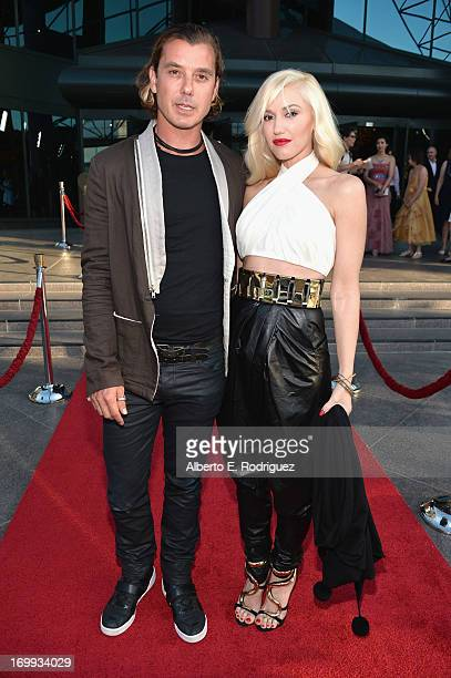 Actor/singer Gavin Rossdale and singer Gwen Stefani arrive to the Los Angeles premiere of A24's The Bling Ring at the Directors Guild Theater on June...