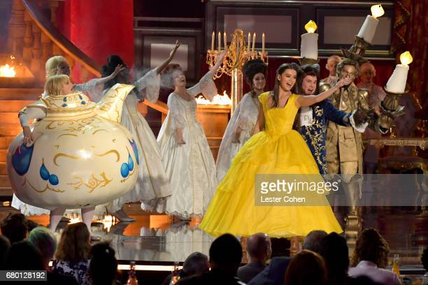 Actor/singer Hailee Steinfeld and host Adam DeVine perform onstage during the 2017 MTV Movie And TV Awards at The Shrine Auditorium on May 7 2017 in...