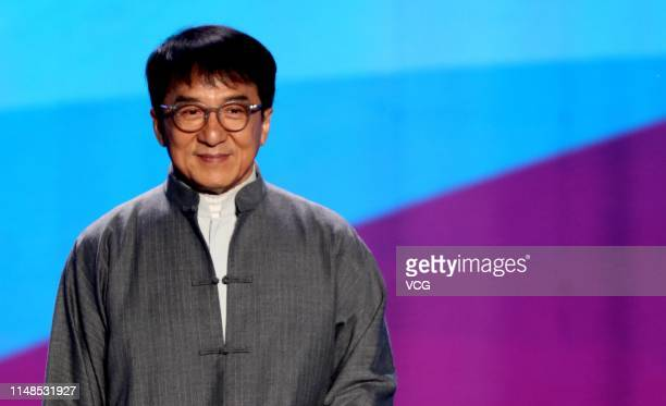 Actor/singer Jackie Chan performs onstage during a concert to celebrate the 1000day countdown to the Beijing 2022 Olympic Winter Games on May 11 2019...