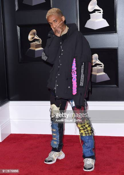 Actor/singer Jaden Smith attends the 60th Annual GRAMMY Awards at Madison Square Garden on January 28 2018 in New York City