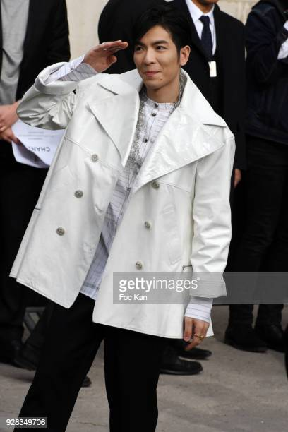 Actor/singer Jam Hsiao attends the Chanel show as part of the Paris Fashion Week Womenswear Fall/Winter 2018/2019 at Le Grand Palais on March 6 2018...