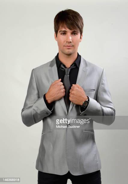 Actor/singer James Maslow poses during the 14th Annual Young Hollywood Awards presented by Bing at Hollywood Athletic Club on June 14 2012 in...