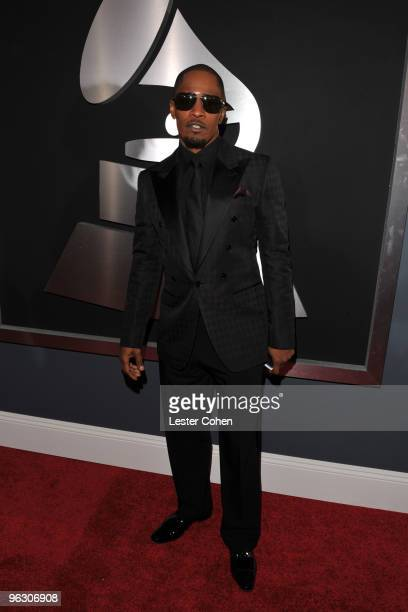 Actorsinger Jamie Foxx arrives at the 52nd Annual GRAMMY Awards held at Staples Center on January 31 2010 in Los Angeles California