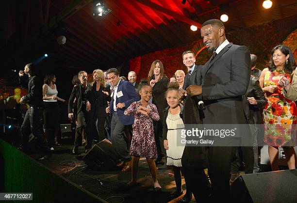 Actor/singer Jamie Foxx performs onstage during Hollywood Stands Up To Cancer Event with contributors American Cancer Society and Bristol Myers...