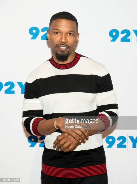 Actor/singer Jamie Foxx visits 92nd Street Y to discuss 'Beat Shazam' at Kaufman Concert Hall on May 23 2017 in New York City