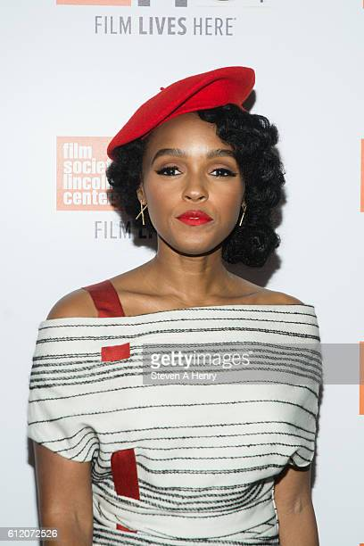 Actor/Singer Janelle Monae attends the 54th New York Film Festival Moonlight premiere at Alice Tully Hall Lincoln Center on October 2 2016 in New...