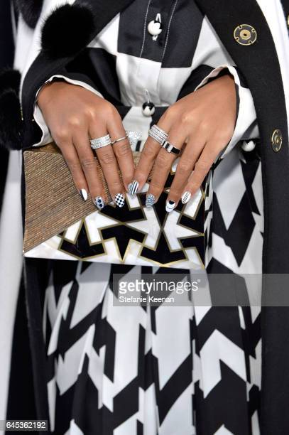 Actor/singer Janelle Monae fashion detail with Piaget at the 2017 Film Independent Spirit Awards at Santa Monica Pier on February 25 2017 in Santa...