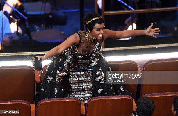 Actor/singer Janelle Monae in the audience during the 89th Annual Academy Awards at Hollywood Highland Center on February 26 2017 in Hollywood...