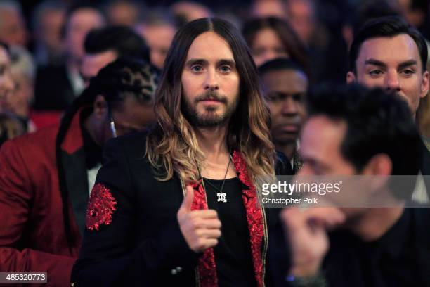 Actorsinger Jared Leto attends the 56th GRAMMY Awards at Staples Center on January 26 2014 in Los Angeles California