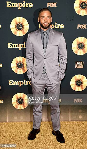 Actor/singer Jussie Smollett arrives at the Television Academy event for Fox Tv's Empire A Performance Under The Stars at The Grove on May 28 2015 in...