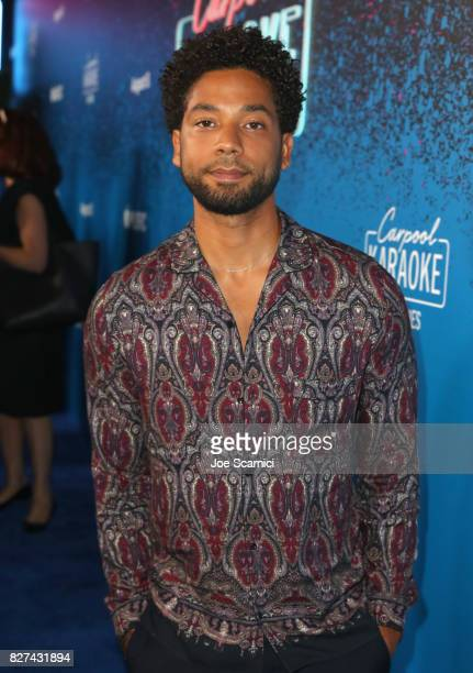 Actor/singer Jussie Smollett at Apple Music Launch Party Carpool Karaoke The Series with James Corden on August 7 2017 in West Hollywood California