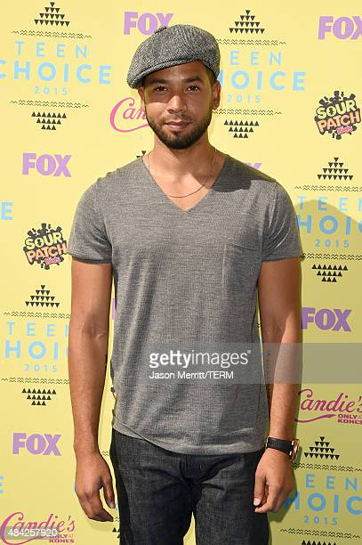 Actor/singer Jussie Smollett attends the Teen Choice Awards 2015 at the USC Galen Center on August 16 2015 in Los Angeles California