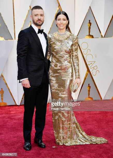 Actor/singer Justin Timberlake and actor Jessica Biel attend the 89th Annual Academy Awards at Hollywood Highland Center on February 26 2017 in...