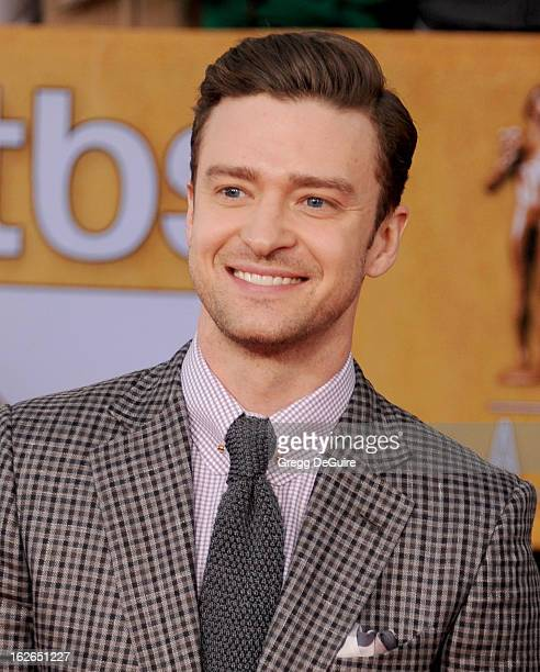 Actor/singer Justin Timberlake arrives at the 19th Annual Screen Actors Guild Awards at The Shrine Auditorium on January 27 2013 in Los Angeles...