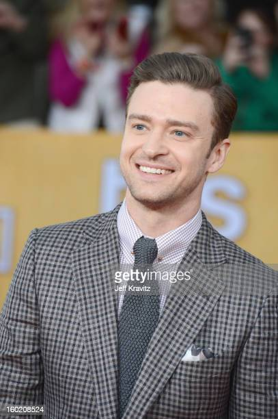 Actor/singer Justin Timberlake arrives at the 19th Annual Screen Actors Guild Awards held at The Shrine Auditorium on January 27 2013 in Los Angeles...