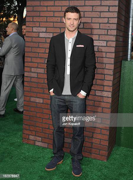 """Actor/singer Justin Timberlake arrives at the Los Angeles Premiere """"Trouble With The Curve"""" at Mann's Village Theatre on September 19, 2012 in..."""