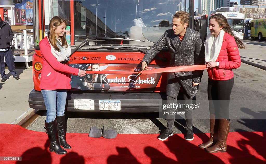 Kendall Schmidt Ride Of Fame Induction Ceremony : News Photo