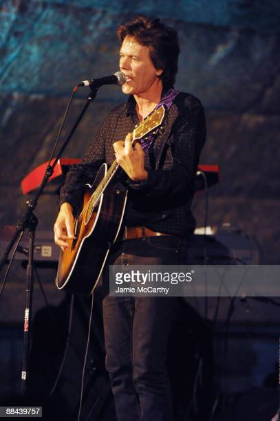 Actor/singer Kevin Bacon performs on stage at the 8th Annual Jed Foundation Gala at Guastavino's on June 11 2009 in New York City