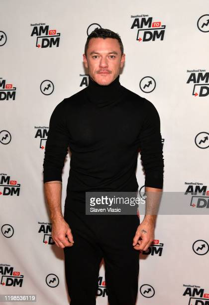 Actor/singer Luke Evans visits BuzzFeed's AM To DM to discuss his debut album At Last on January 09 2020 in New York City