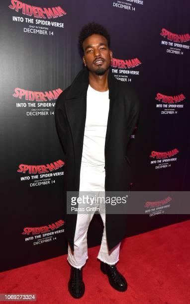 Actor/singer Luke James attends 'Spiderman Into The SpiderVerse' Atlanta screening at Regal Atlantic Station on December 6 2018 in Atlanta Georgia