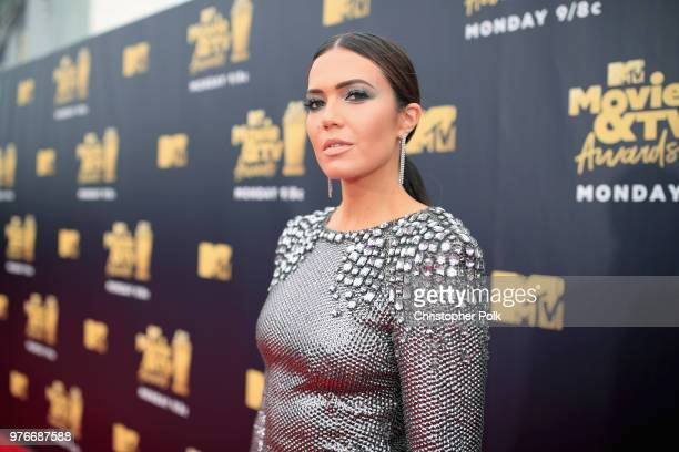 Actor/singer Mandy Moore attends the 2018 MTV Movie And TV Awards at Barker Hangar on June 16 2018 in Santa Monica California