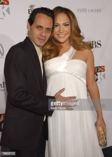 Actor/Singer Marc Anthony and Actress/Singer Jennifer Lopez arrive at Conde Nast Media Group presents Movies Rock at the Kodak Theater on December 2...