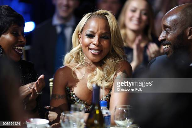 Actor/singer Mary J Blige attends The 23rd Annual Critics' Choice Awards at Barker Hangar on January 11 2018 in Santa Monica California