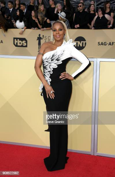 Actor/singer Mary J Blige attends the 24th Annual Screen Actors Guild Awards at The Shrine Auditorium on January 21 2018 in Los Angeles California