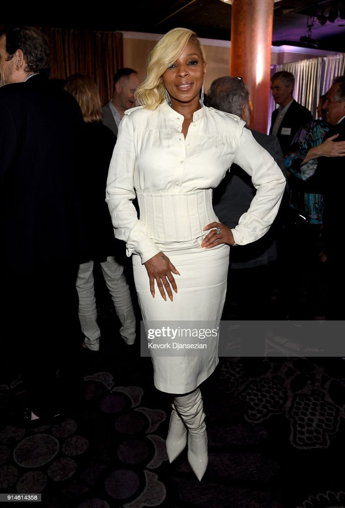 Actor/singer Mary J. Blige attends the 90th Annual Academy Awards Nominee Luncheon at The Beverly Hilton Hotel on February 5, 2018 in Beverly Hills, California.