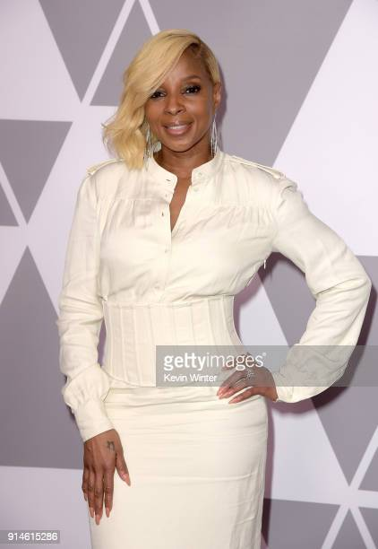 Actor/singer Mary J Blige attends the 90th Annual Academy Awards Nominee Luncheon at The Beverly Hilton Hotel on February 5 2018 in Beverly Hills...