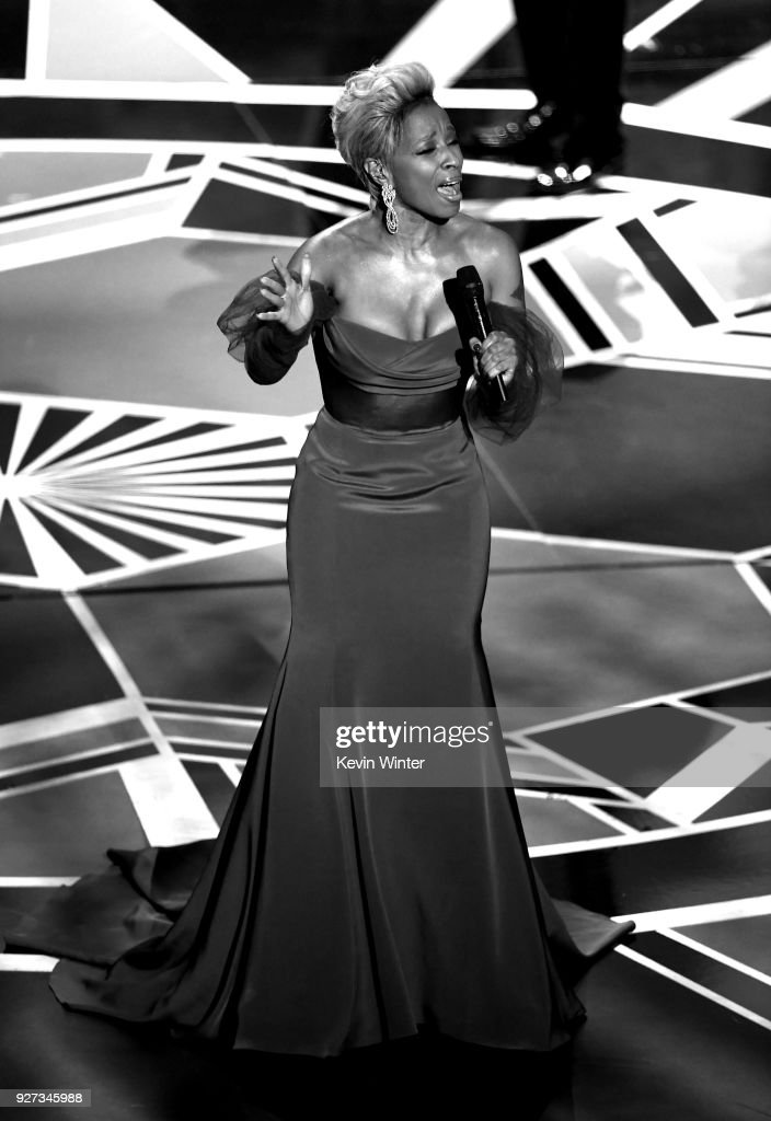 Actor/singer Mary J. Blige performs onstage during the 90th Annual Academy Awards at the Dolby Theatre at Hollywood & Highland Center on March 4, 2018 in Hollywood, California.