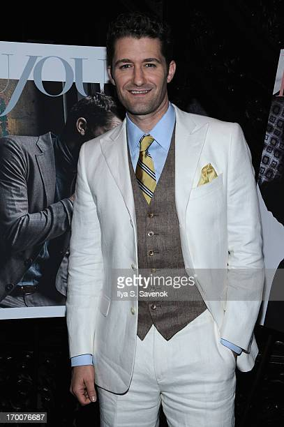 Actor/singer Matthew Morrison attends Jason Binn and DuJour Magazine's Celebration for Matthew Morrison at the Friars Club on June 6 2013 in New York...
