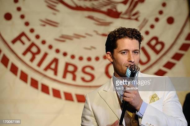Actor/singer Matthew Morrison performs at Jason Binn and DuJour Magazine's Celebration for Matthew Morrison at the Friars Club on June 6 2013 in New...