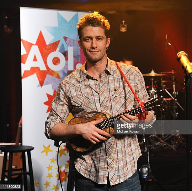 Actor/Singer Matthew Morrison performs for AOL Music's 'Sessions' at AOL Studios on April 6 2011 in Beverly Hills California