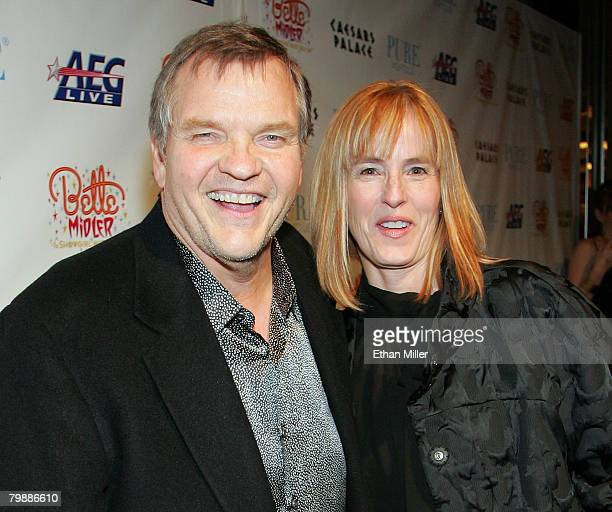 Actor/singer Meat Loaf and Deborah Gillespie arrive at the after party for the premiere of Bette Midler's new show 'The Showgirl Must Go On' at the...