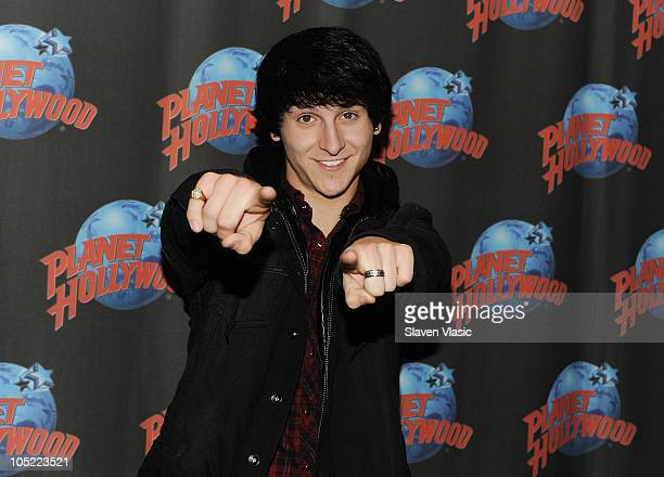 Actor/singer Mitchel Musso promotes his new album 'Brainstorm' at Planet Hollywood Times Square on October 12 2010 in New York City