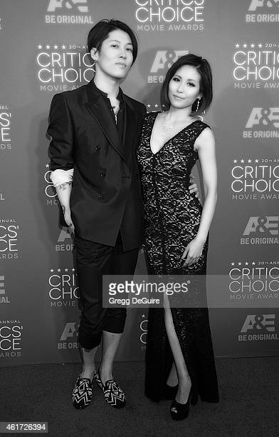 Actor/singer Miyavi and wife Melody arrive at the 20th Annual Critics' Choice Movie Awards at Hollywood Palladium on January 15 2015 in Los Angeles...