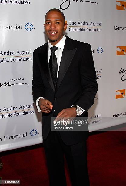 Actor/singer Nick Cannon arrives at the 13th annual Andre Agassi Charitable Foundation's Grand Slam for Children benefit concert at the Wynn Las...