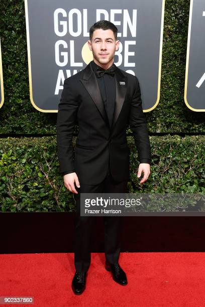 Actor/singer Nick Jonas attends The 75th Annual Golden Globe Awards at The Beverly Hilton Hotel on January 7 2018 in Beverly Hills California