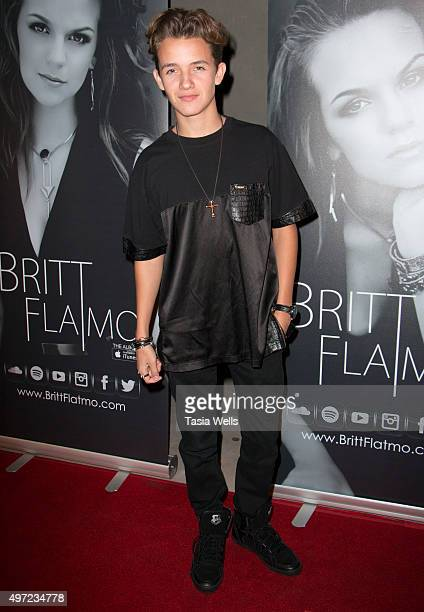 Actor/singer Noah Urrea arrives at Britt Flatmo Exclusive Album Release Party at Seventy7 North on November 14 2015 in Studio City California