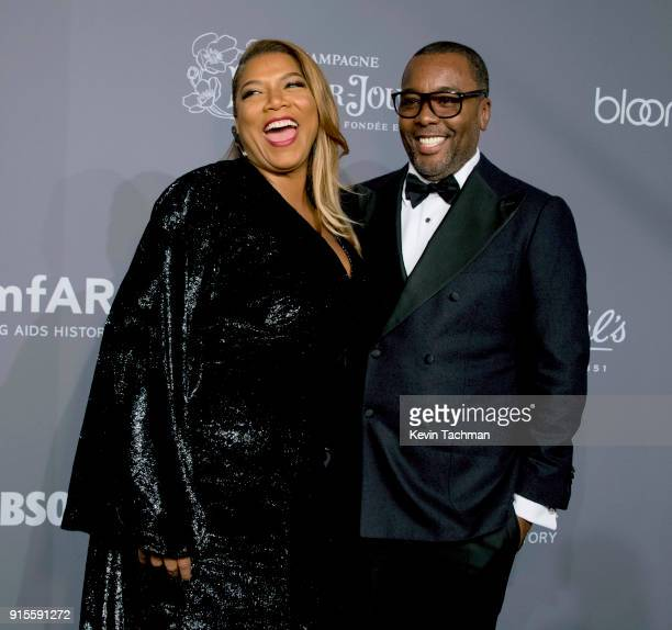 Actor/singer Queen Latifah and director Lee Daniels attend the 2018 amfAR Gala New York at Cipriani Wall Street on February 7 2018 in New York City