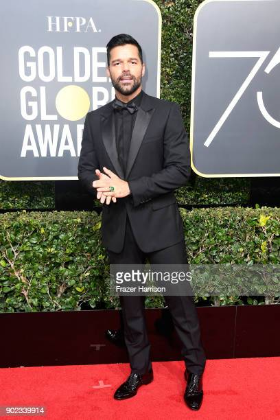 Actor/singer Ricky Martin attends The 75th Annual Golden Globe Awards at The Beverly Hilton Hotel on January 7 2018 in Beverly Hills California