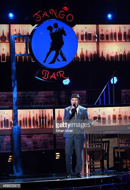 Actor/singer Ruben Blades performs onstage during the 15th Annual Latin GRAMMY Awards at the MGM Grand Garden Arena on November 20 2014 in Las Vegas...